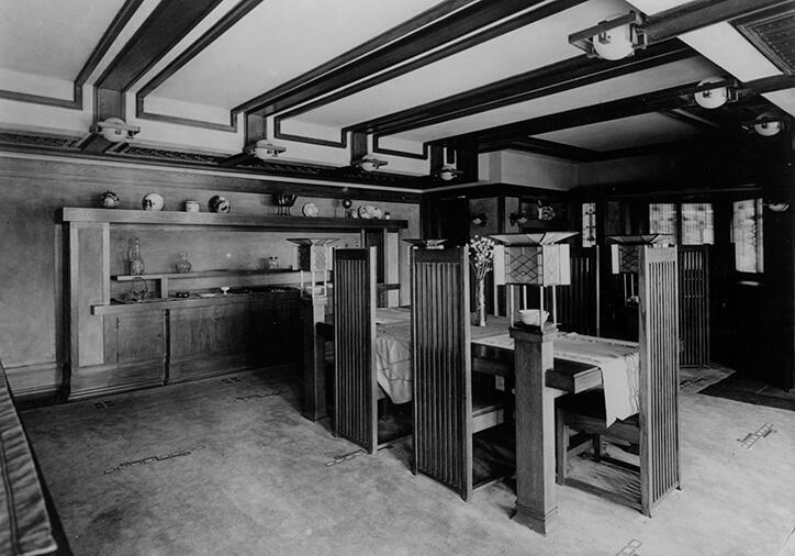 Wright Designs The Frederick C Robie House Frank Lloyd